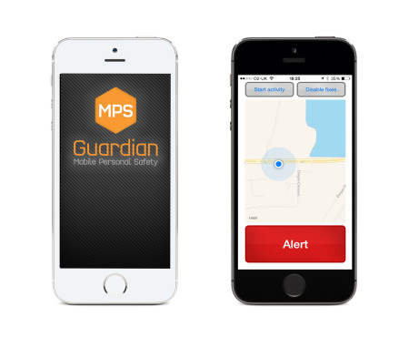 Black White iPhone Smartphones running GuardianMPS